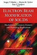 Electron beam modification of solids; mechanisms, common features, and promising applications