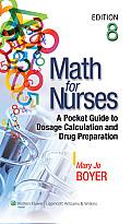 Math for Nurses (8TH 13 Edition)