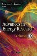 Advances in Energy Researchvolume 19
