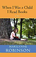 When I Was a Child I Read Books (Large Print) Cover