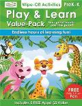 Play & Learn - Value Pack: 4 Wipe-Off Activities Books