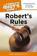 The Complete Idiot's Guide to Robert's Rules (Complete Idiot's Guides) Cover
