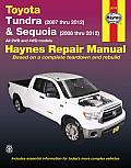 Toyota Tundra & Sequoia: Tundra (2007 Thru 2012) & Sequoia (2008 Thru 2012) All 2wd and 4WD Models (Haynes Repair Manual)