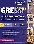 Kaplan GRE Premier 2016 with 6 Practice Tests Book + Online + DVD + Mobile