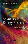 Advances in Energy Research: Volume 15