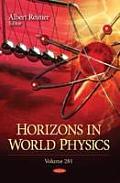 Horizons in World Physicsvolume 281