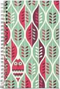 Owls & Leaves Medium Canvas Ruled Notebook