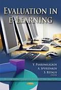 Evaluation in E-learning