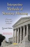 Interpretive Methods of Statutory Meaning