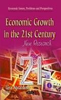 Economic Growth in the 21ST Century: New Research