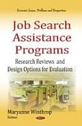 Job Search Assistance Programs: Research Reviews and Design Options for Evaluation