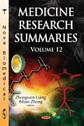 Medicine Research Summariesvolume 12