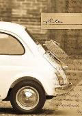 Mini Car Elastic Notebook: Blank Paper