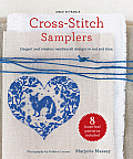 Cross Stitch Samplers Elegant & Timeless Needlecraft Designs in Red & Blue
