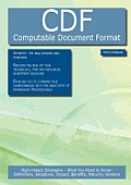Cdf - Computable Document Format: High-Impact Strategies - What You Need to Know: Definitions, Adoptions, Impact, Benefits, Maturity, Vendors