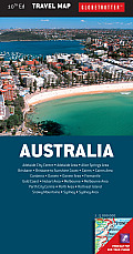 Australia Travel Map 10th Edition