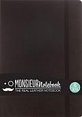 Monsieur Notebook Leather Journal - Black Sketch Medium