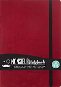 Monsieur Notebook Leather Journal - Red Sketch Medium