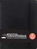 Monsieur Notebook Black Leather Ruled Small