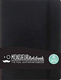 Monsieur Notebook Leather Journal - Black Sketch Small