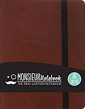 Monsieur Notebook Leather Journal - Brown Sketch Small