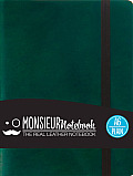 Monsieur Notebook Green Leather Plain Small