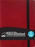 Monsieur Notebook Red Leather Plain Small
