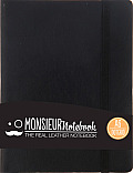 Monsieur Notebook Leather Journal - Black Dot Grid Small