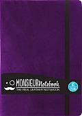 Monsieur Notebook Leather Journal - Purple Plain Medium