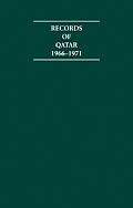 Records of Qatar 1966 1971 4 Volume Hardback Set