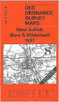 West Suffolk (Bury and Mildenhall) 1897: One Inch Map 189