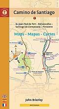Camino de Santiago Maps Mapas Cartes St Jean Pied de Port Roncesvalles Santiago de Compostela Finisterre