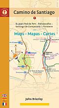 Camino de Santiago Maps Mapas Cartes St Jean Pied de Port Roncesvalles Santiago de Compostela Finisterre 5th Edition