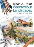 Trace &amp; Paint Watercolour Landscapes Cover