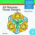 Design Library #06: Art Nouveau Flower Designs [With CDROM] Cover