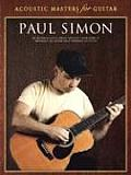 Acoustic Masters for Guitar--Paul Simon