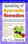 Speaking of Ayurvedic Remedies