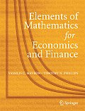 Elements of Mathematics for Economics and Finance