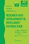 Research and Development in Intelligent Systems XXIII: Proceedings of AI-2006, the Twenty-Sixth SGAI International Conference on Innovative Techniques