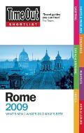 Time Out Shortlist Rome 2009 3rd Edition