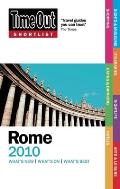 Time Out Shortlist Rome 2010 4th Edition