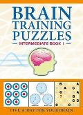 Brain Training Puzzles Intermediate Book 1