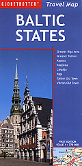 Baltic States Travel Map (Globetrotter Travel Map) Cover