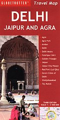 Delhi, Jaipur and Agra Travel Map (Globetrotter Travel Maps) Cover