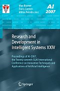 Research and Development in Intelligent Systems XXIV: Proceedings of Ai-2007, the Twenty-Seventh Sgai International Conference on Innovative Technique
