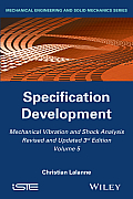 Mechanical Vibration and Shock Analysis, Specification Development