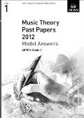 Music Theory Past Papers 2012 Model Answers, Abrsm Grade 1