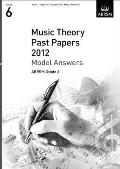 Music Theory Past Papers 2012 Model Answers, Abrsm Grade 6