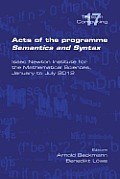 Acts of the Progamme Sematics and Syntax