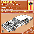 Datsun 810 Maxima Owner's Workshop Manual, No. 376: '77-'84